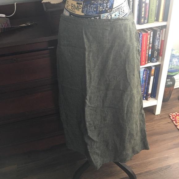 255574493d Women s flax linen skirt